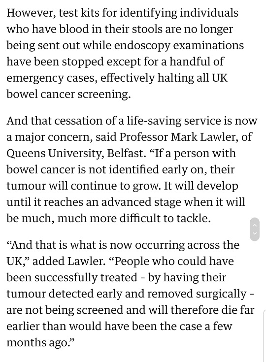 cancer screening delayed