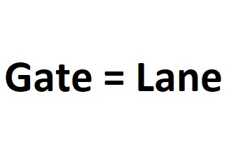 a gate is equal to a lane