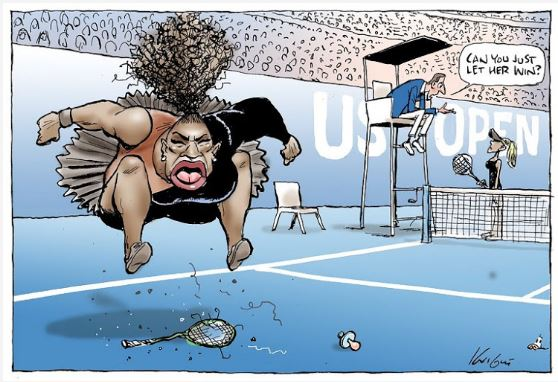 serena williams racist sexist cartoon