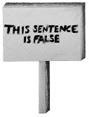 this sentence is false placard